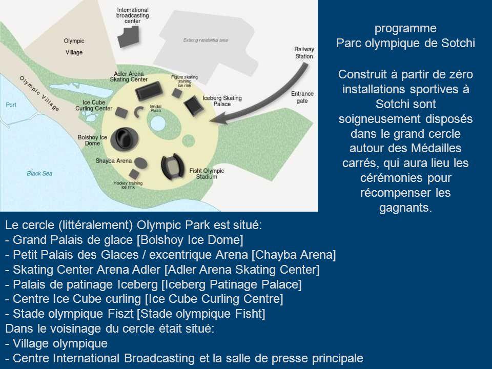 Dans la ville de Sotchi se tiendront les compétitions dans les disciplines de la «glace», Ici a été construit les principaux objets du stade olympique