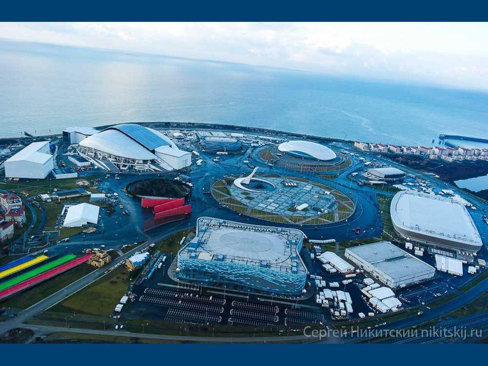 programme Parc olympique de Sotchi Construit à partir de zéro installations sportives à Sotchi sont soigneusement disposés dans le grand cercle autour