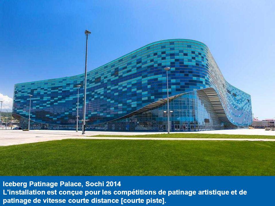 Skating Center Arena Adler, Sochi 2014 Cette installation sera compétitions de patinage de vitesse. Les murs de la patinoire sont vitrés, pour que les