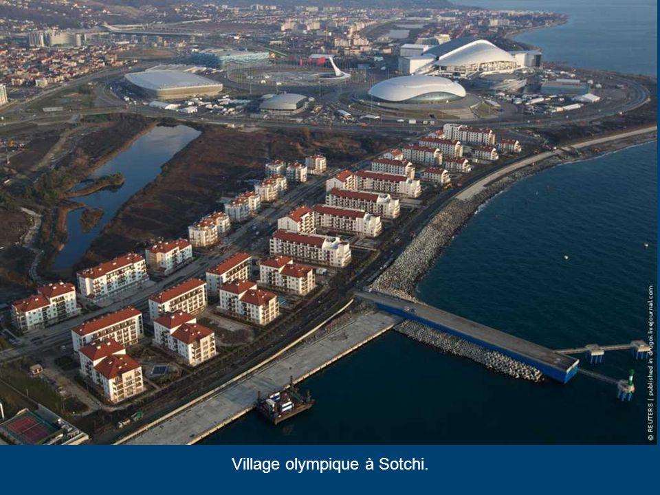 Ice Cube Curling Center, Sochi 2014 Il est la plus petite construction d'installations sportives à Sotchi. Après les jeux d'hiver il sera démonté et t