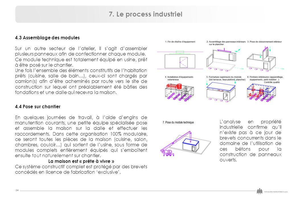 24 4.3 Assemblage des modules Sur un autre secteur de l'atelier, il s'agit d'assembler plusieurs panneaux afin de confectionner chaque module.