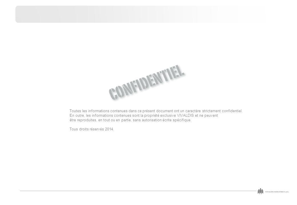 Toutes les informations contenues dans ce présent document ont un caractère strictement confidentiel. En outre, les informations contenues sont la pro