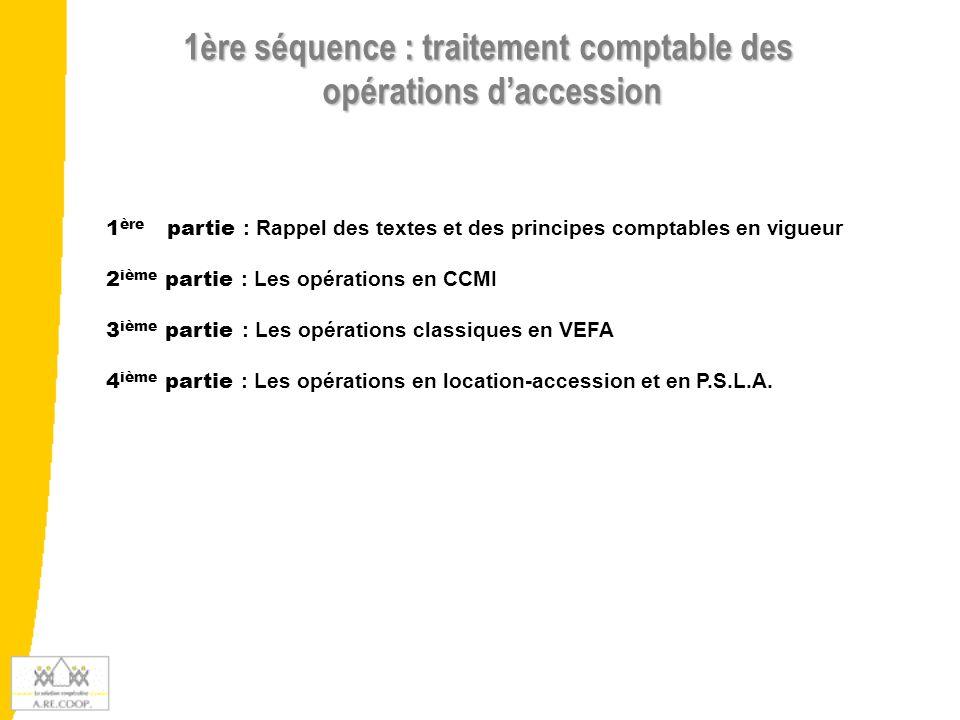 Rappel des textes et des principes comptables en vigueur 1 ère Partie :