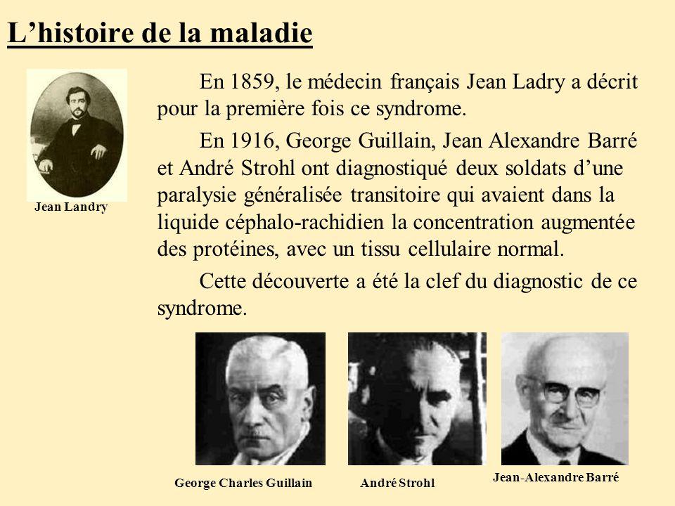L'histoire de la maladie En 1859, le médecin français Jean Ladry a décrit pour la première fois ce syndrome.