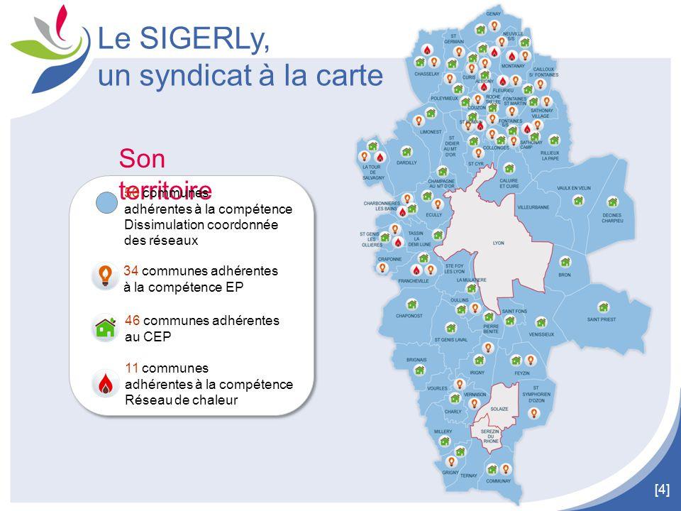[4] Son territoire 11 communes adhérentes à la compétence Réseau de chaleur 46 communes adhérentes au CEP 34 communes adhérentes à la compétence EP Le
