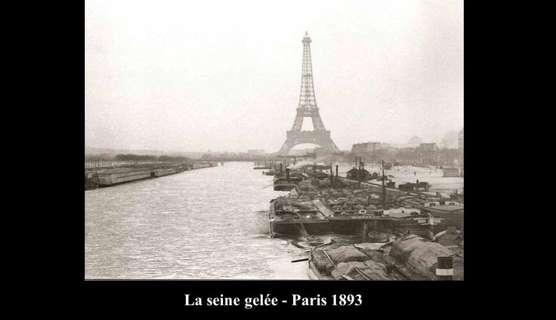 La seine gelée - Paris 1893