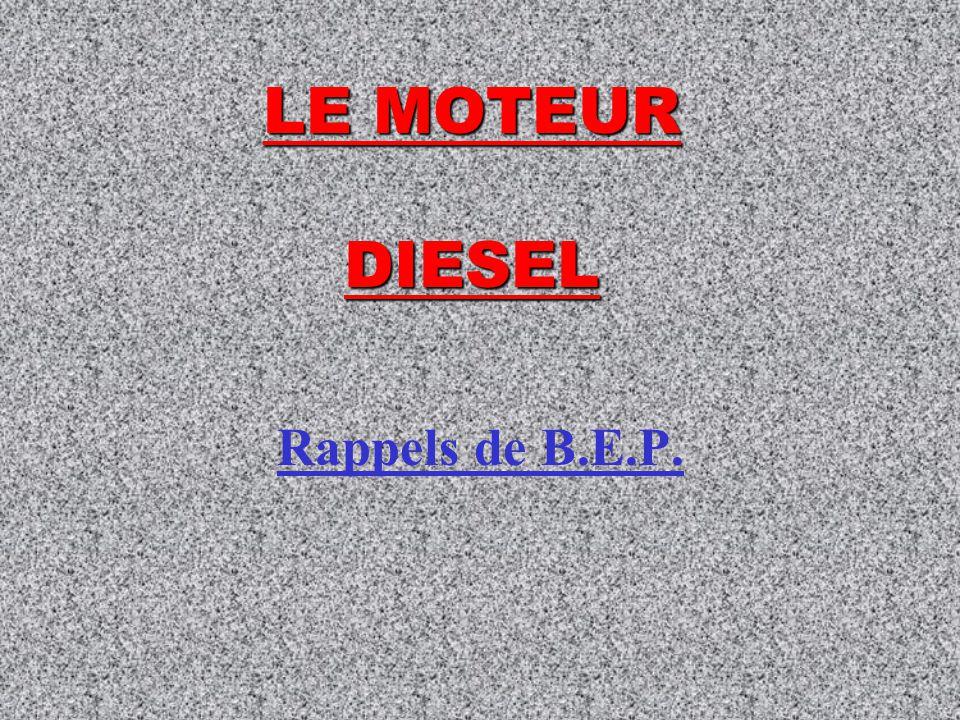 LE MOTEUR DIESEL Rappels de B.E.P.