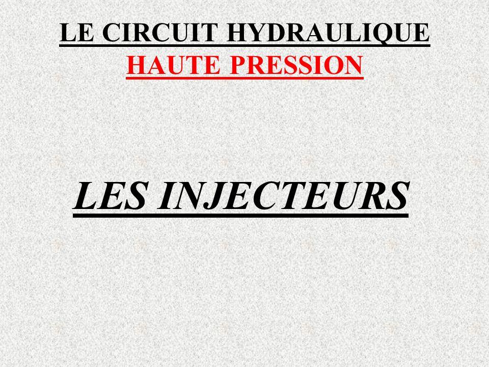 LE CIRCUIT HYDRAULIQUE HAUTE PRESSION LES INJECTEURS
