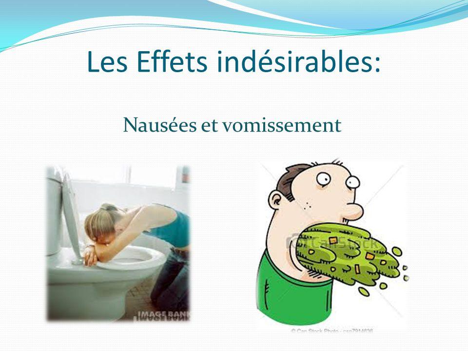 Les Effets indésirables: Nausées et vomissement
