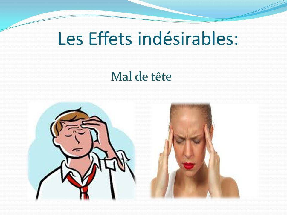 Les Effets indésirables: Mal de tête