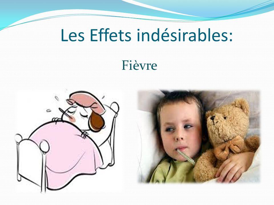 Les Effets indésirables: Fièvre