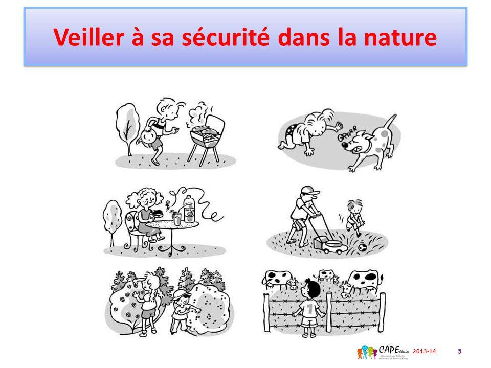 Veiller à sa sécurité dans la nature 6 2013-14