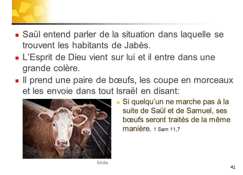 Saül entend parler de la situation dans laquelle se trouvent les habitants de Jabès.