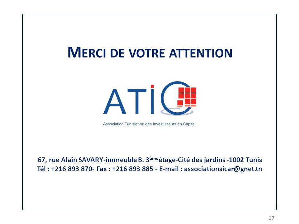 M ERCI DE VOTRE ATTENTION 67, rue Alain SAVARY-immeuble B.
