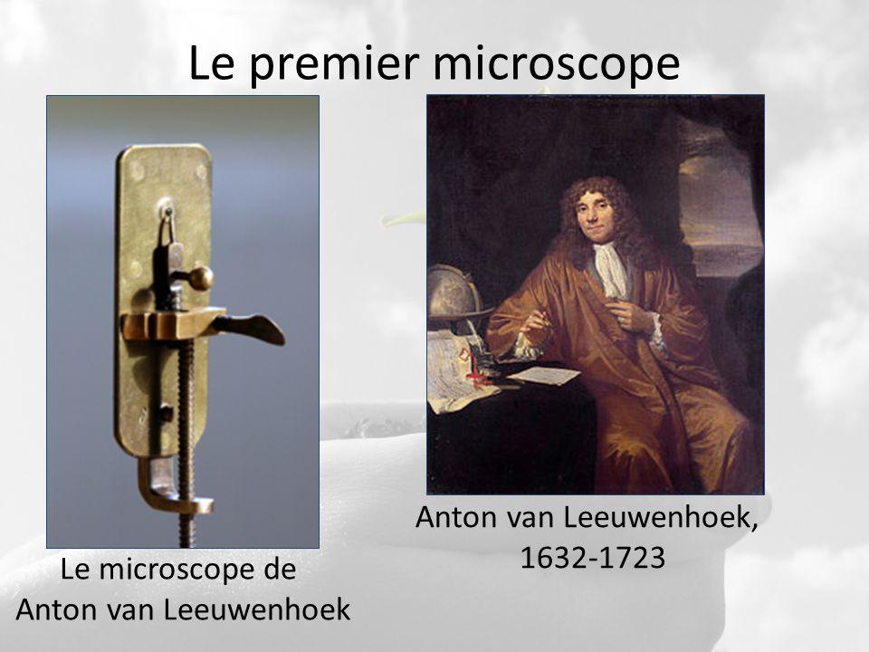Le premier microscope Le microscope de Anton van Leeuwenhoek Anton van Leeuwenhoek, 1632-1723