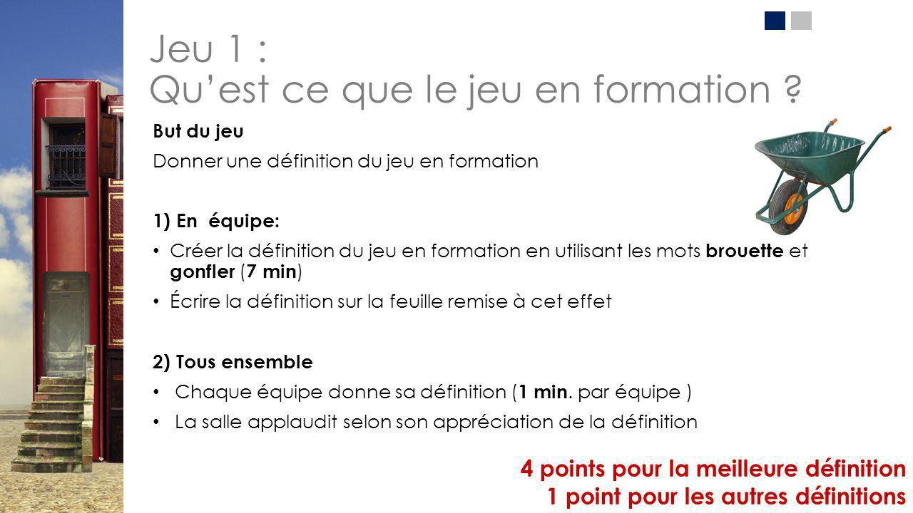 Jeu 1: Définition du jeu Selon Roger Caillois*, c'est une activité qui doit être : 1.