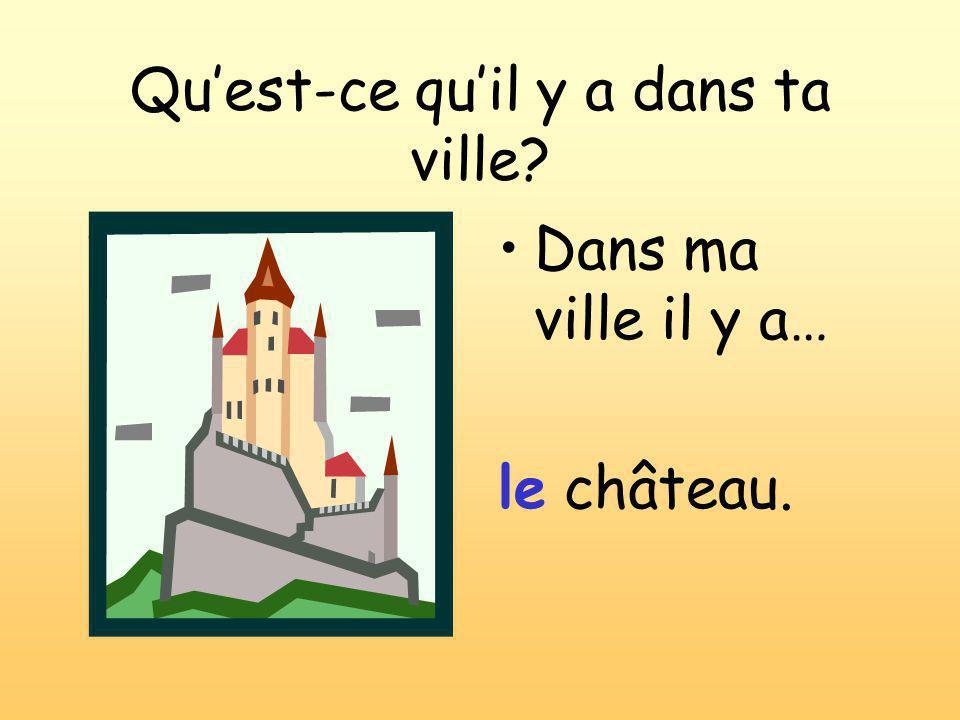 Dans ma ville il y a… le château. Qu'est-ce qu'il y a dans ta ville?