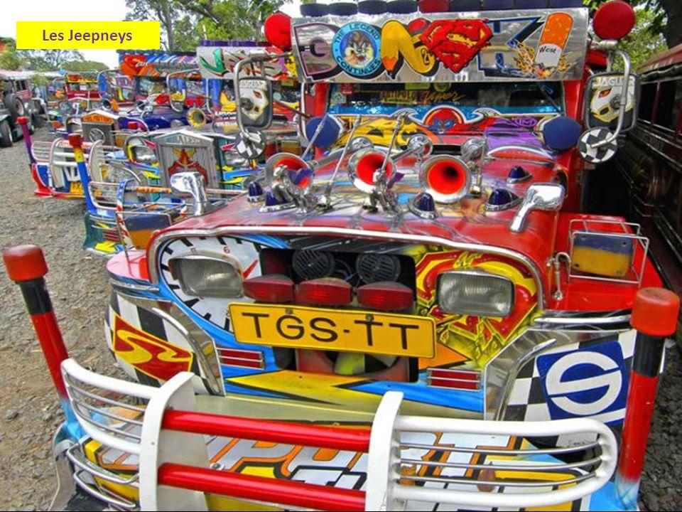 Les Jeepneys sont le moyen de transport le plus populaire aux Philippines