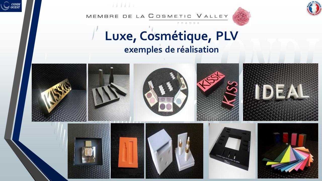 Luxe, Cosmétique, PLV exemples de réalisation