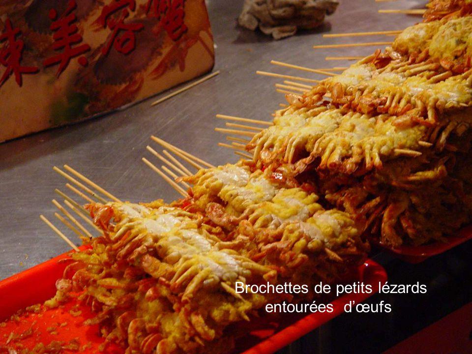 Brochettes de scorpions
