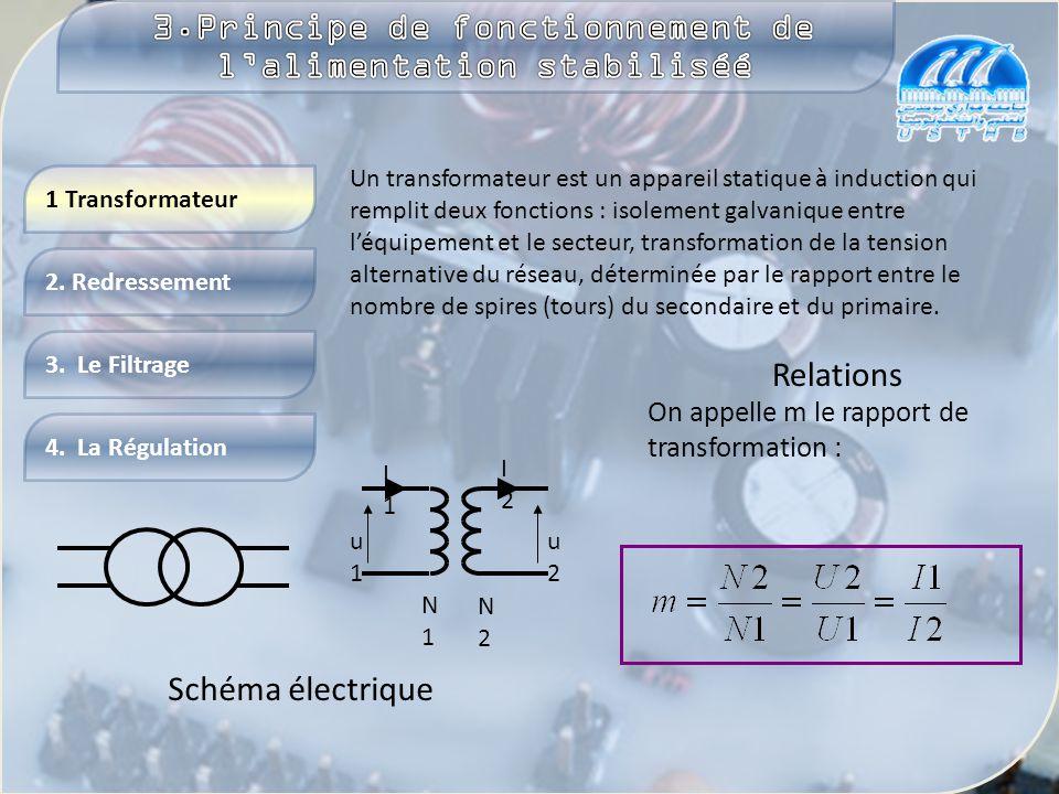 Plus d'info Le schéma électrique de l'alimentation stabilisée est représenté sur la figure. Généralement, il contient un transformateur, un pont de Gr
