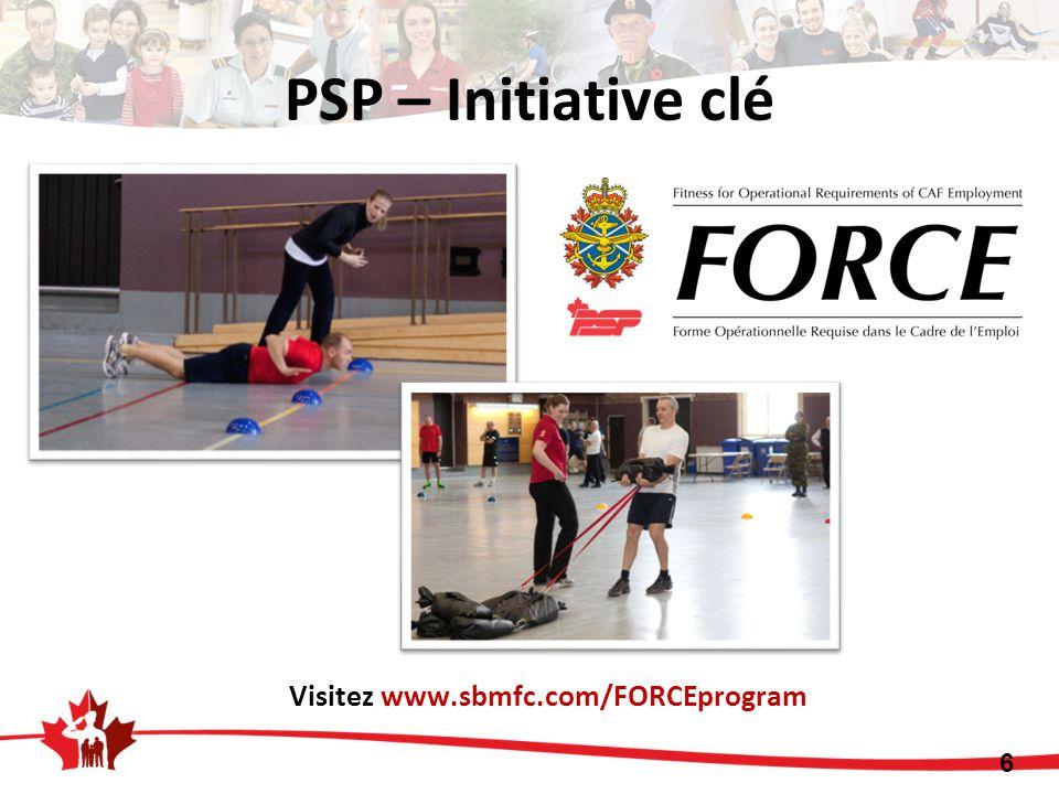 PSP – Initiative clé Visitez www.sbmfc.com/FORCEprogram 6