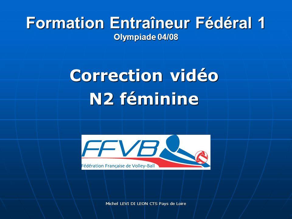 Michel LEVI DI LEON CTS Pays de Loire Formation Entraîneur Fédéral 1 Olympiade 04/08 Correction vidéo N2 féminine