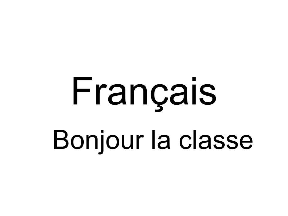 Français Bonjour la classe