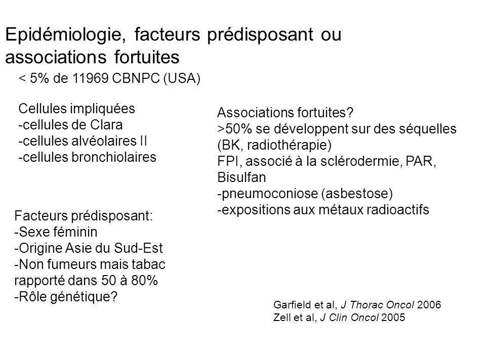 Epidémiologie, facteurs prédisposant ou associations fortuites Cellules impliquées -cellules de Clara -cellules alvéolaires II -cellules bronchiolaire