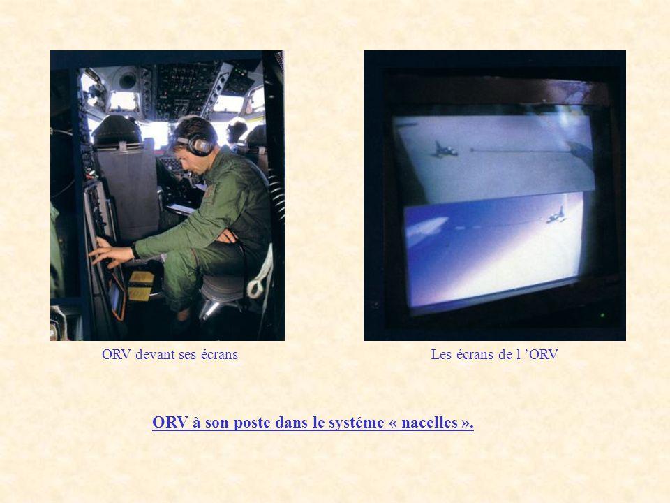 ORV à son poste dans le systéme « nacelles ». ORV devant ses écransLes écrans de l 'ORV