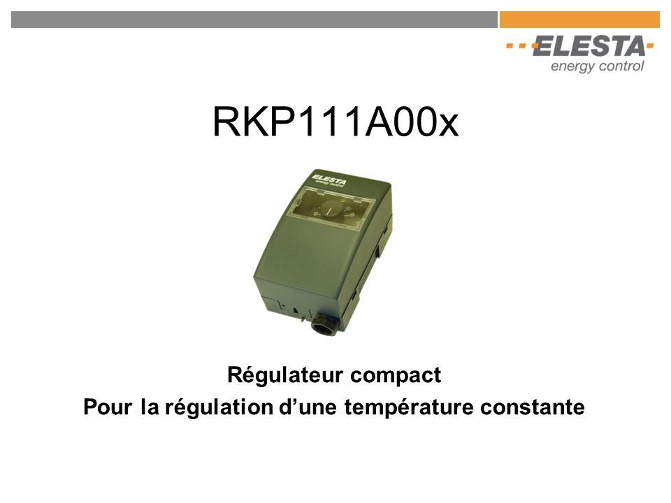 RKP111A00x Régulateur compact Pour la régulation d'une température constante