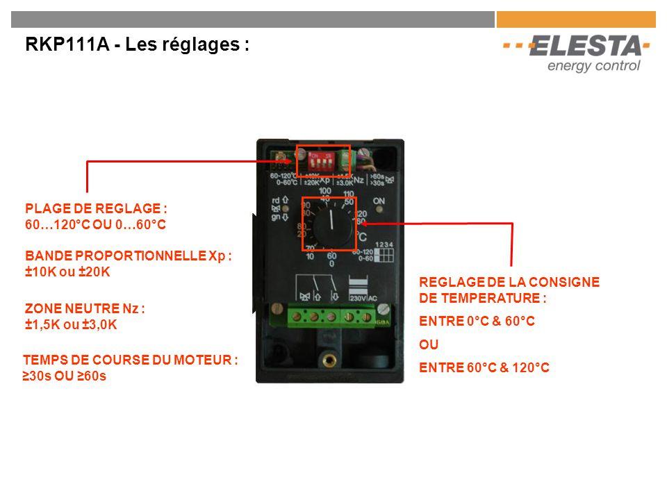 RKP111A – Raccordement électrique : ALIMENTATION 230Vac RACCORDEMENT DU MOTEUR RACCORDEMENT DE LA SONDE