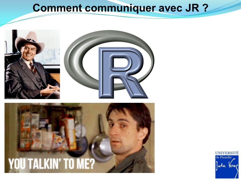 Comment communiquer avec JR ?