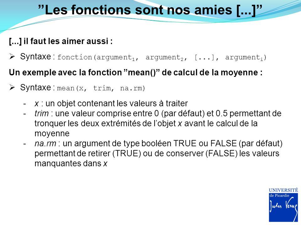 """""""Les fonctions sont nos amies [...]"""" [...] il faut les aimer aussi :  Syntaxe : fonction(argument 1, argument 2, [...], argument i ) Un exemple avec"""