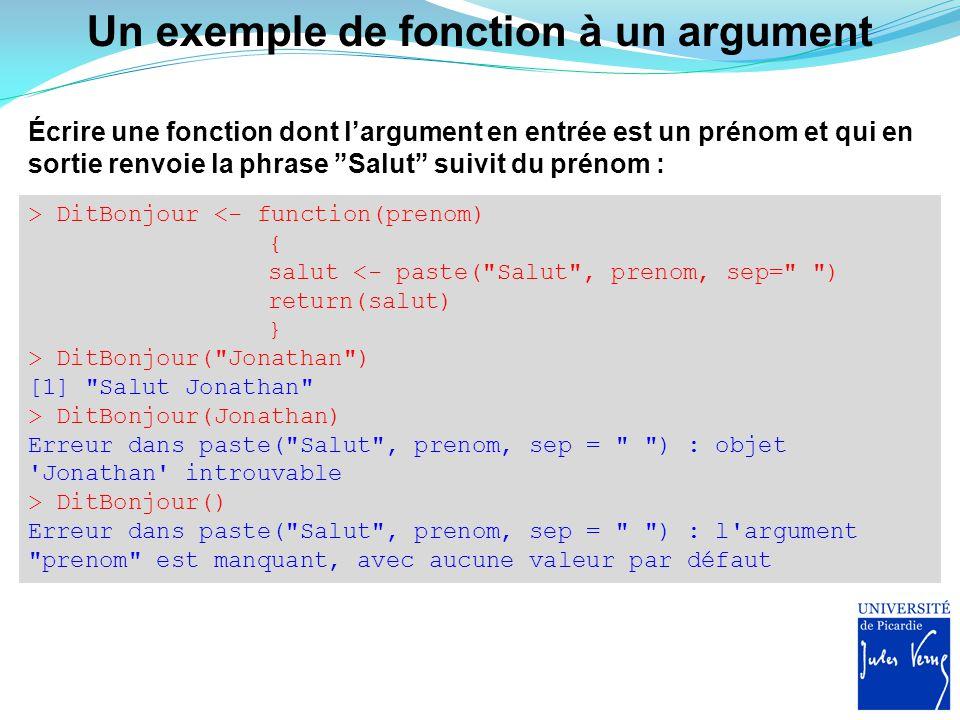 """Un exemple de fonction à un argument Écrire une fonction dont l'argument en entrée est un prénom et qui en sortie renvoie la phrase """"Salut"""" suivit du"""