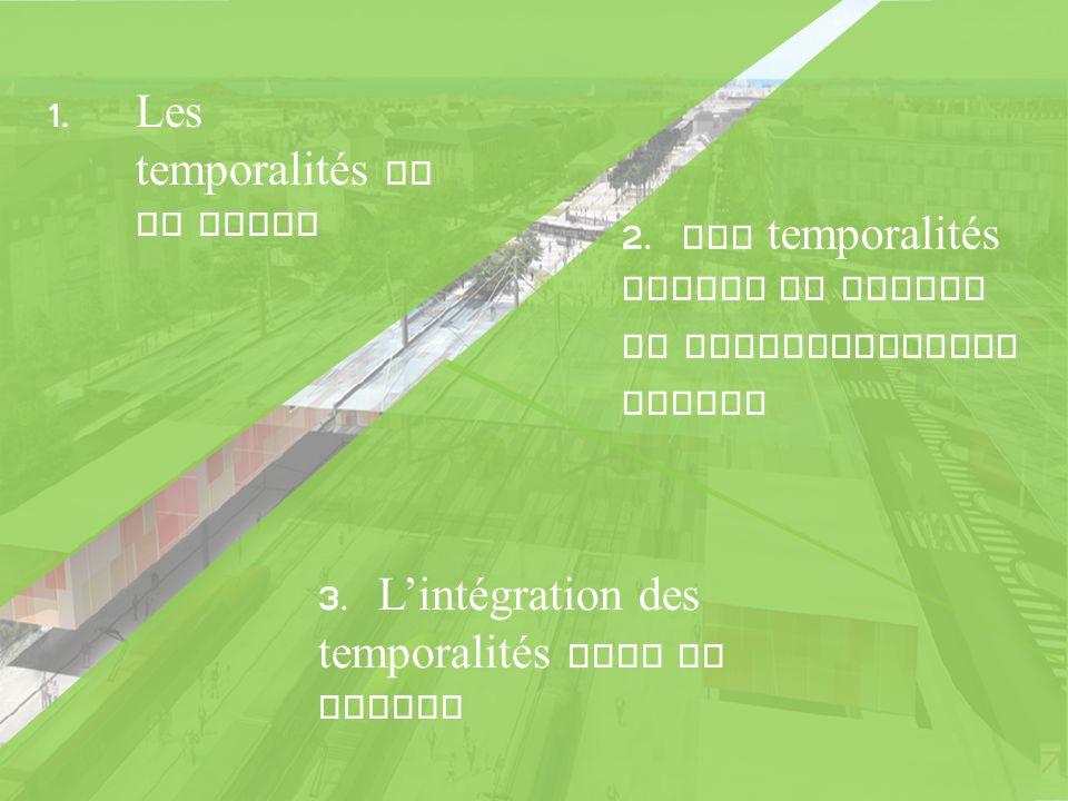 1.Les temporalités de la ville 2. Les temporalités autour du projet de renouvellement urbain 3.