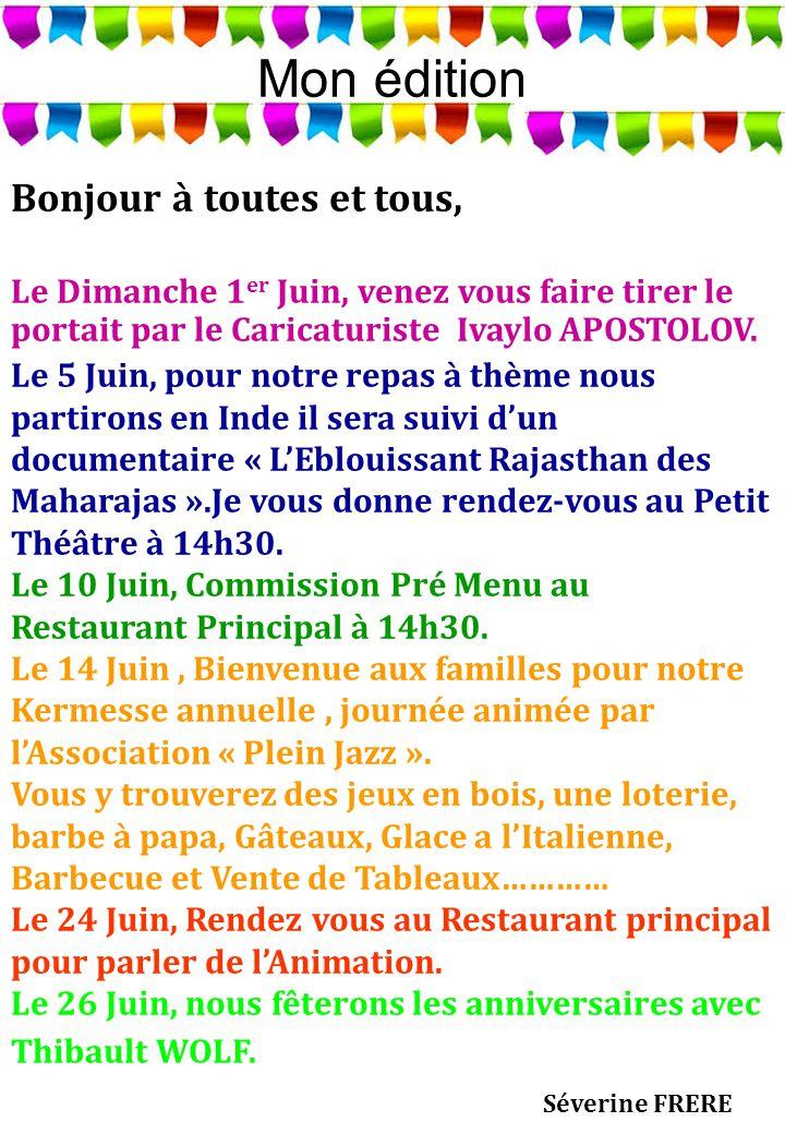 Les Anniversaires du Mois Le Jeudi 26 Juin 2014 Avec Thibault WOLF Mme Mélanie BERISOT 30/06/1924 Mme Germaine RUMENCE 07/06/1925 M.