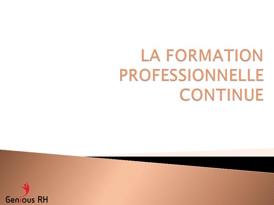 Formation professionnelle (FP) = processus d apprentissage qui permet à un salarié d acquérir ou de mettre à jour le savoir et les savoir-faire nécessaires à l exercice d un métier ou d une activité professionnelle.