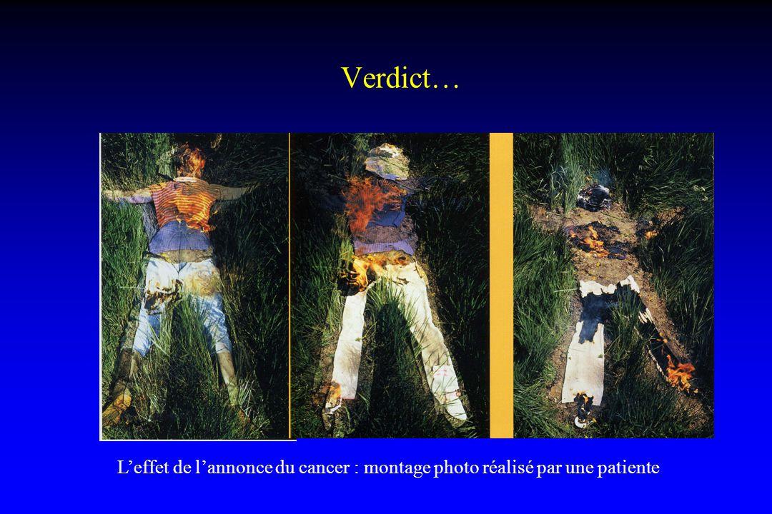 Verdict… L'effet de l'annonce du cancer : montage photo réalisé par une patiente