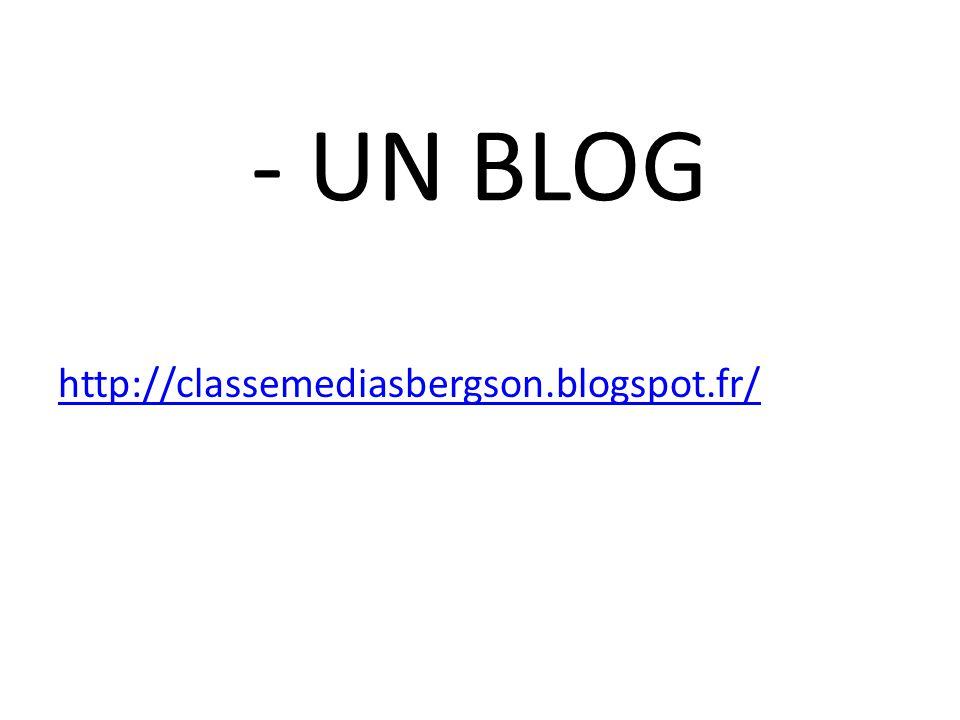 - UN BLOG http://classemediasbergson.blogspot.fr/