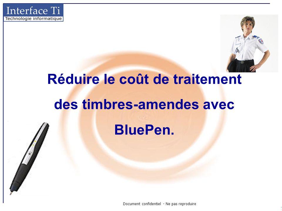 Document confidentiel - Ne pas reproduire Réduire le coût de traitement des timbres-amendes avec BluePen.