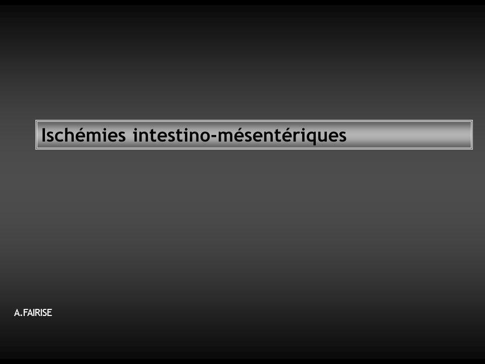 Ischémies intestino-mésentériques A.FAIRISE