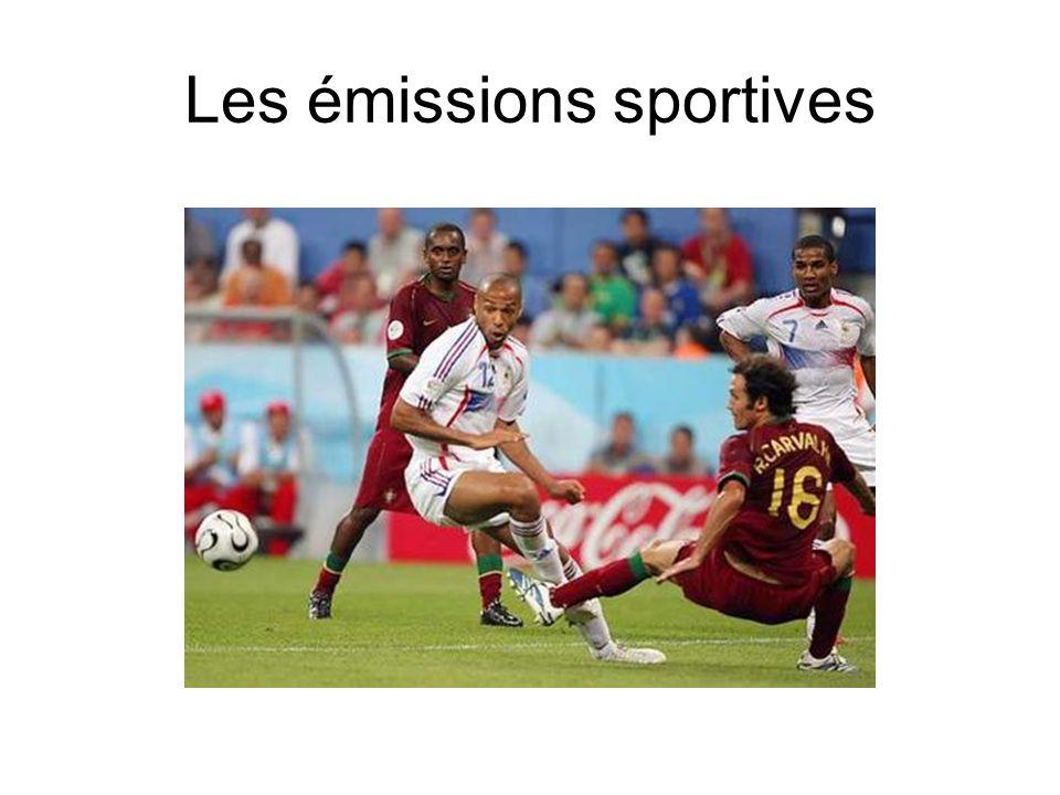 Les émissions sportives