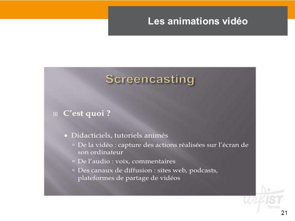21 Les animations vidéo