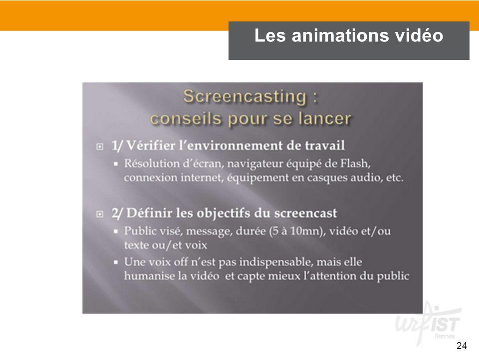24 Les animations vidéo