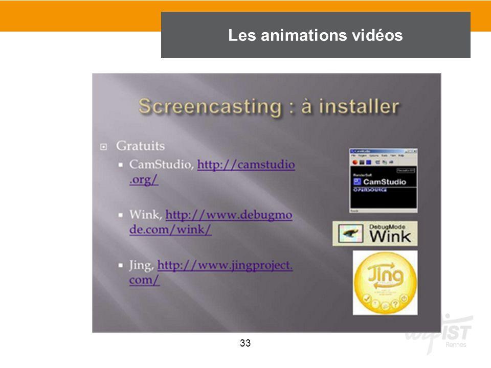 33 Les animations vidéos
