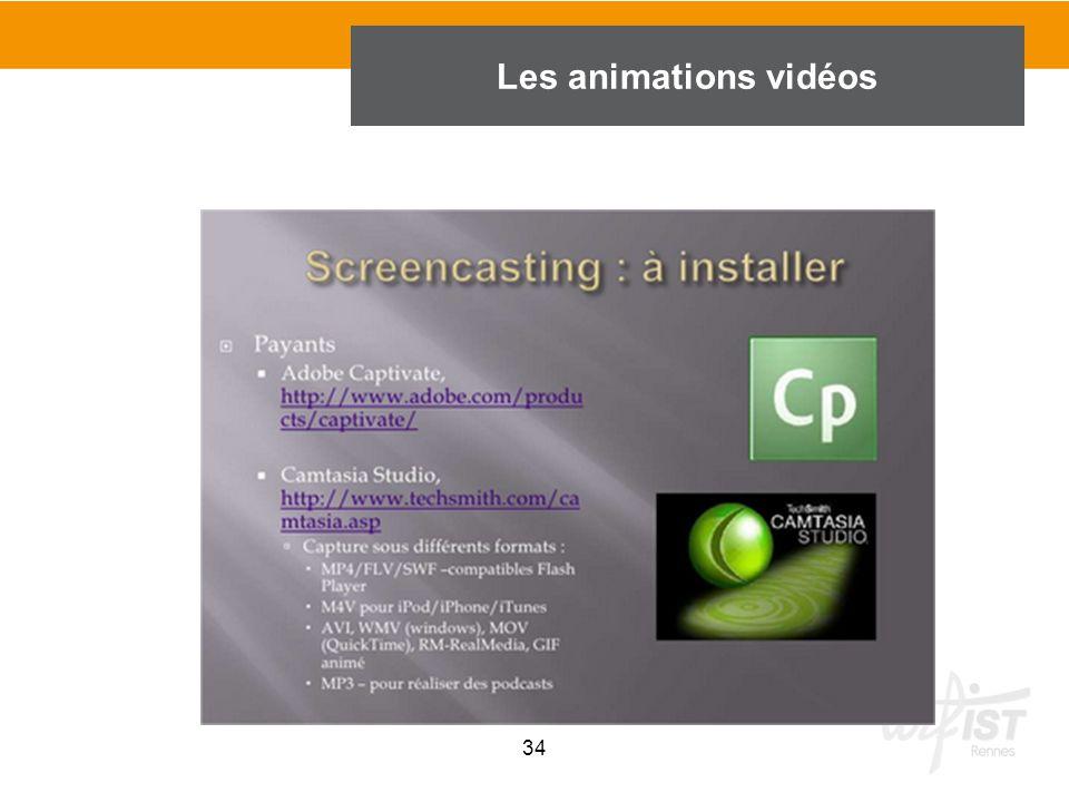 34 Les animations vidéos