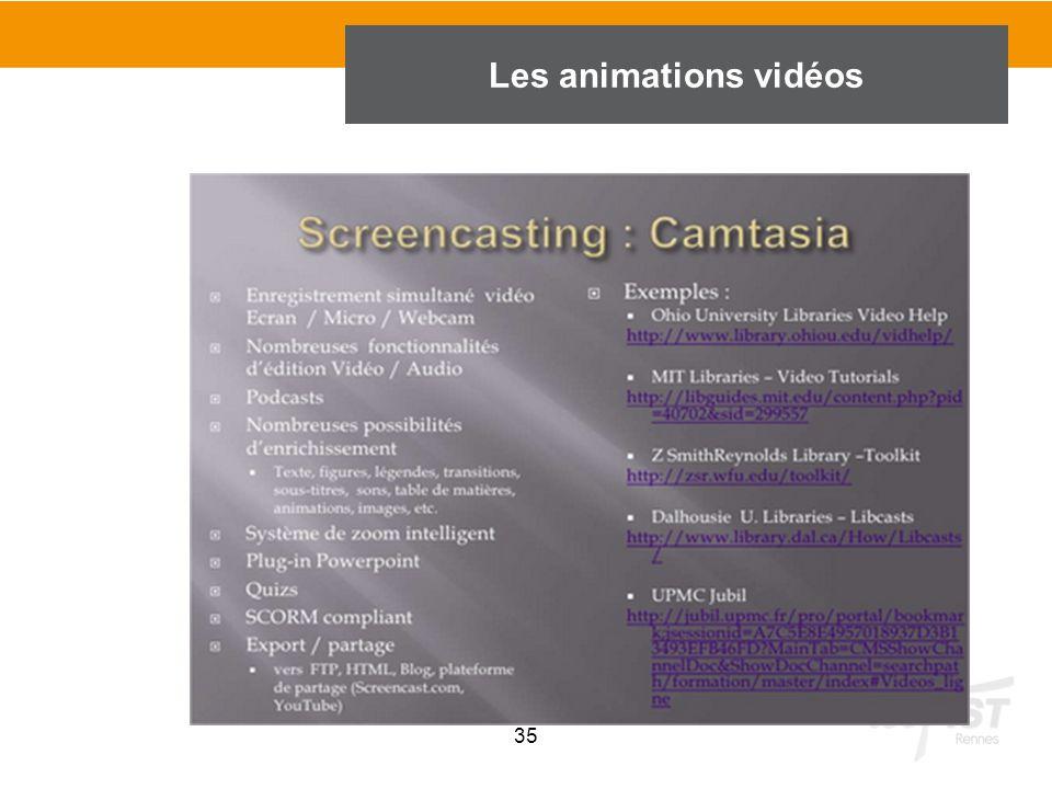 35 Les animations vidéos