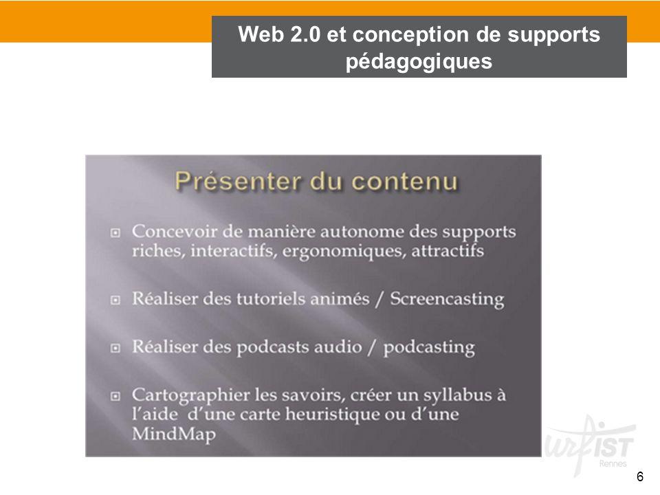 6 Web 2.0 et conception de supports pédagogiques