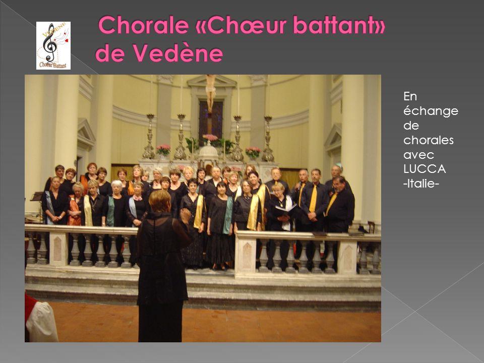 En échange de chorales avec LUCCA -Italie-
